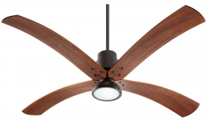 Quorum 98604-86, Flex Oiled Bronze 60 inch Ceiling Fan with Light & Wall Control