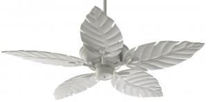Quorum International 135525-8 Monaco Patio Ceiling Fan with 52 inch Decorative Studio White ABS Blades