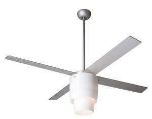Modern Fan Company HAL-NO-NK, Halo Textured Nickel 52 inch Outdoor Ceiling Fan with Light & BL52NK Blades