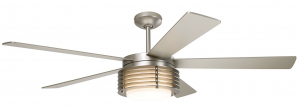 Modern Fan PHA-MN, Pharos Matte Nickel 52 inch Outdoor Ceiling Fan with Light