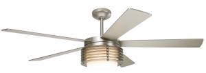 Modern Fan PHA-MN, Pharos Matte Nickel 52 inch Outdoor Ceiling Fan with Light